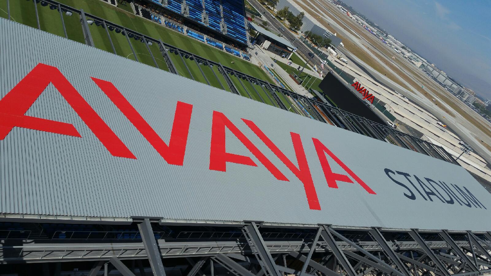 Avaya Soccer Stadium Roof Top Sign San Jose